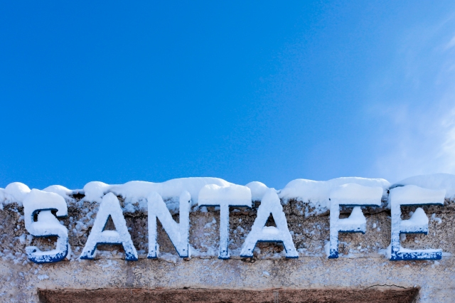 Santa Fe, New Mexico, United States. Train stop at the Railyard district.